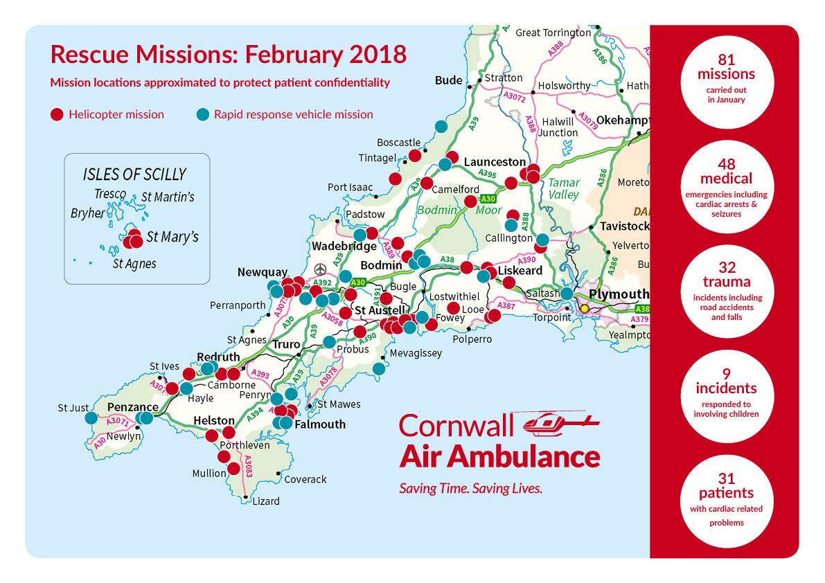 Mission map February 2018